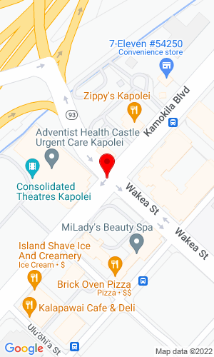 Google Map of American Machinery Inc 91-1831 Franklin D Roosevelt, Kapolei, HI, 96707