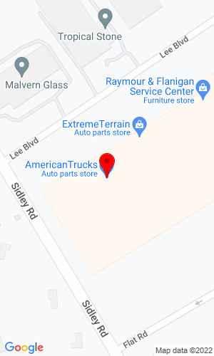 Google Map of American Truck & Trailer Body Company 100 W. Valpico Road, Tracy, CA, 95376