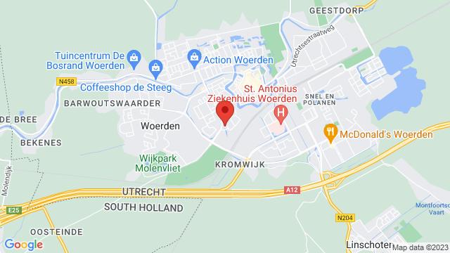 Norbert+Driessen+Woerden op Google Maps