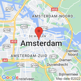 Google map of Museum Hermitage, Amsterdam