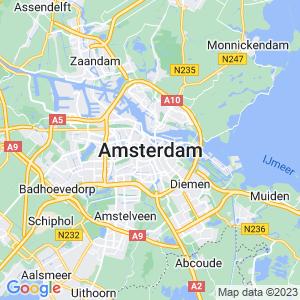 Werkgebied van onze bestrijder in Amsterdam