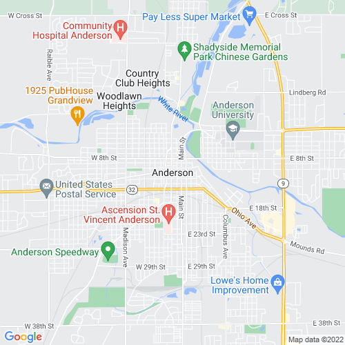 Map of Anderson, IN