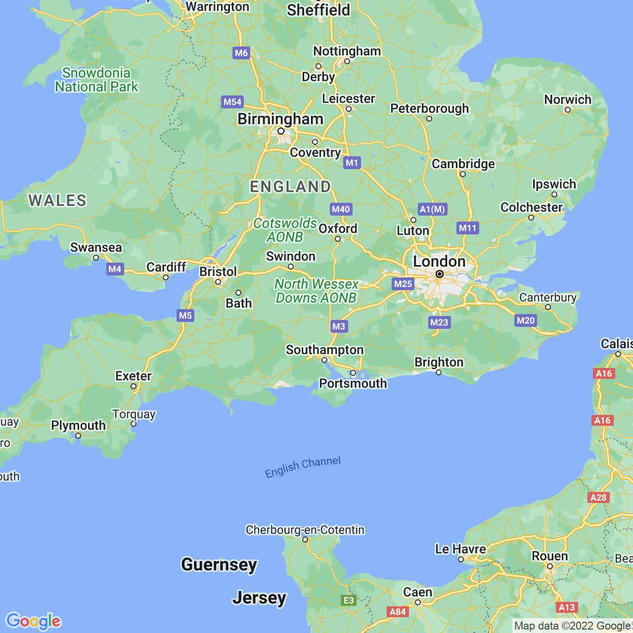 Andover, England Map