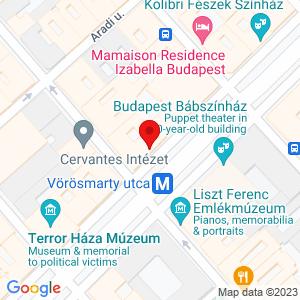 Google Map of Andrássy út 66. Budapest H-1062