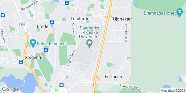 Et kort over Danmarks Tekniske Universitet - DTU
