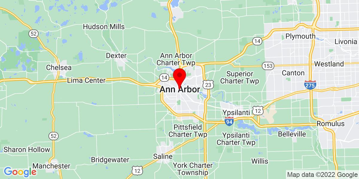 Google Map of Ann Arbor, MI