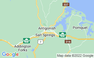 Map of The Oasis Motel & Campground