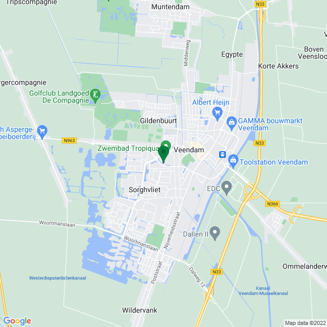 Google Map of Aquapark 7, VEENDAM