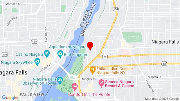 Google Map of Aquarium of Niagara, 701 Whirlpool Street, Niagara Falls, NY 14301
