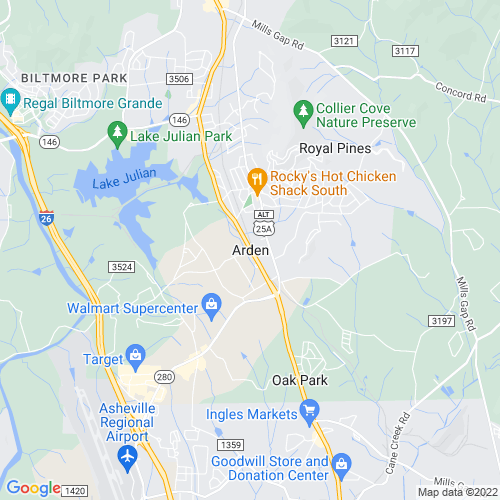 Map of Arden, NC