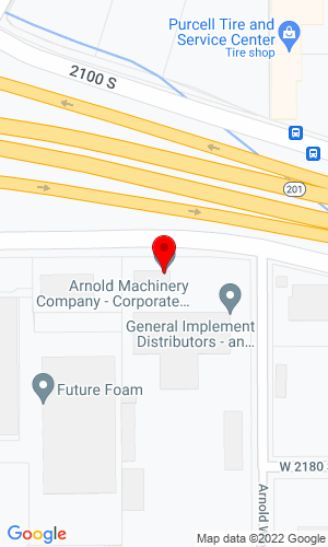 Google Map of Arnold Machinery Company 2975 West 2100 South, Salt Lake City, UT, 84119