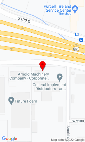 Google Map of Arnold Machinery Company 2975 West 2100 South, Salt Lake City, UT, 84119,