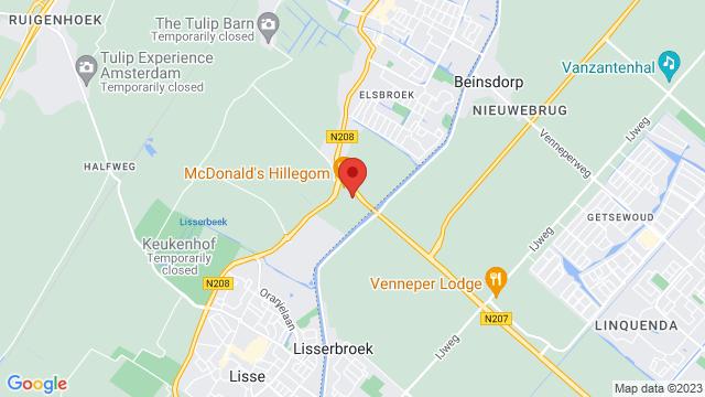 Hillegom op Google Maps