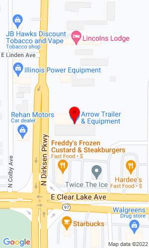 Google Map of Arrow Trailers & Equipment Co. 140 N. Dirksen Parkway, Springfield, IL, 62702