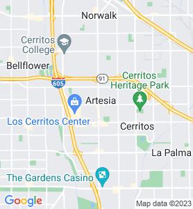 Artesia CA Map