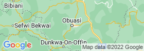 Obuasi map
