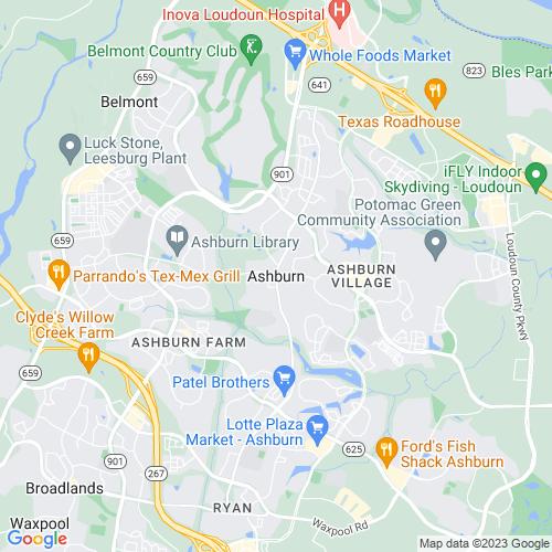 Map of Ashburn, VA