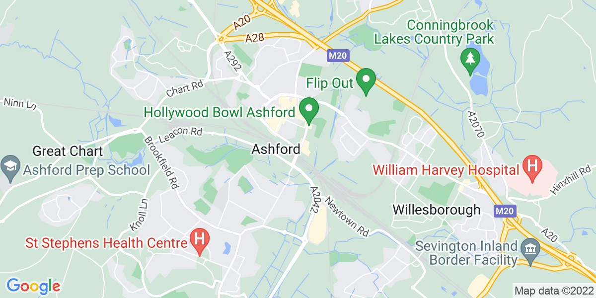 Map: Groundworker - Pipe Layer and Deep Drainage position in Ashford