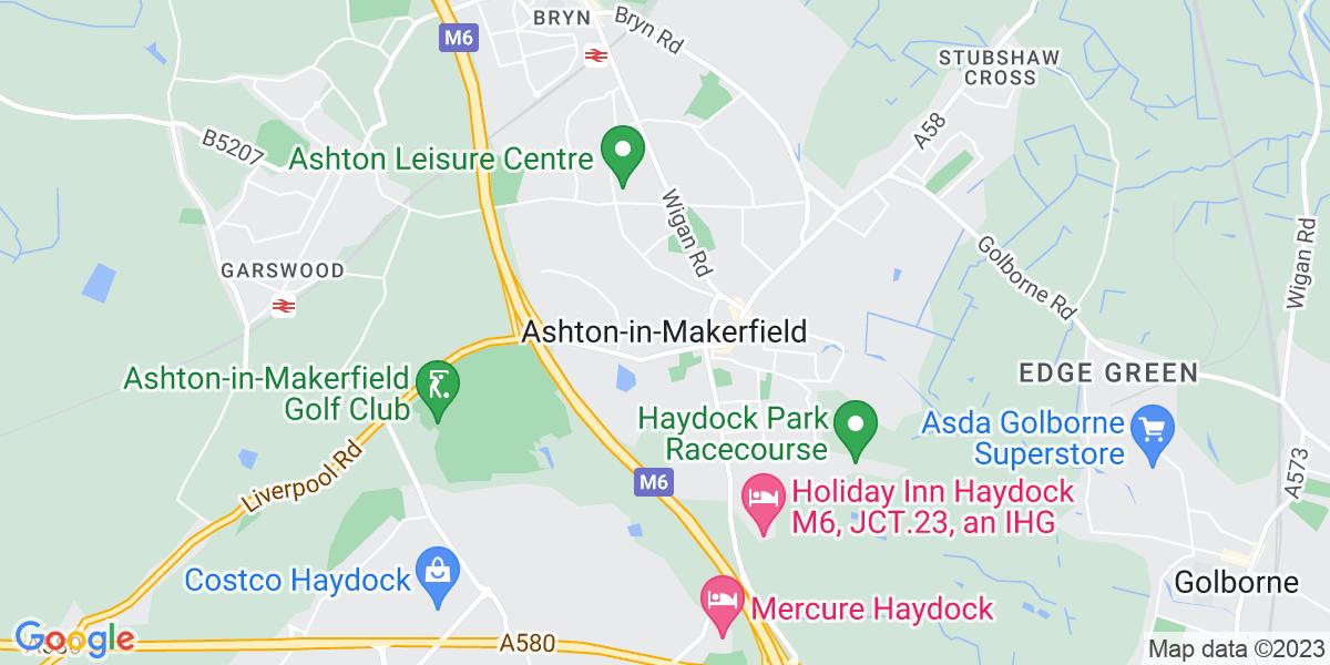 Map: .NET Developer position in Ashton-in-Makerfield