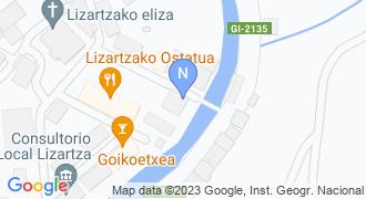 Lizartzako udaletxea mapa