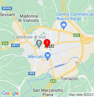 Google Map of Asti, Piedmont, Italy