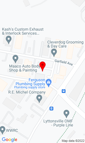 Google Map of Atlantic Machinery 2702 Garfield Ave., Silver Springs, MD, 20910