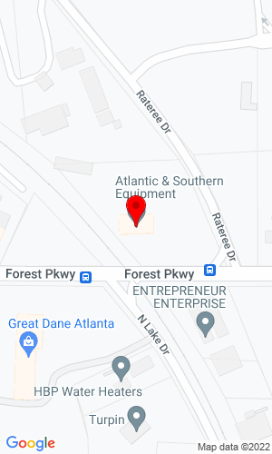 Google Map of Atlantic and Southern Equipment LLC 1642 Forest Pkwy, Lake City, GA, 30260