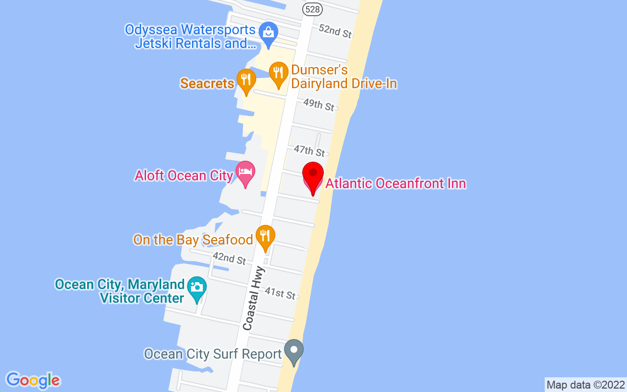 Google Map of Atlantic Oceanfront Inn