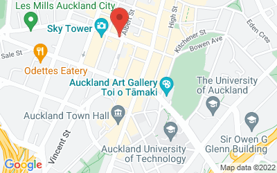 Map of ]Auckland, New Zealand