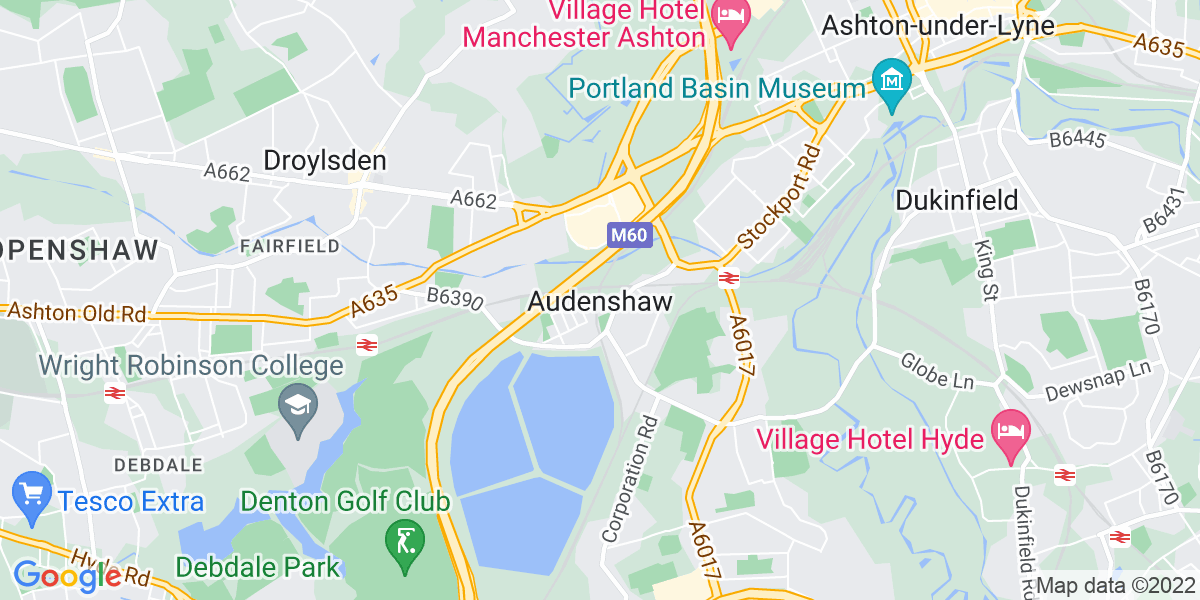 Map: Healthcare Assistant role in Audenshaw