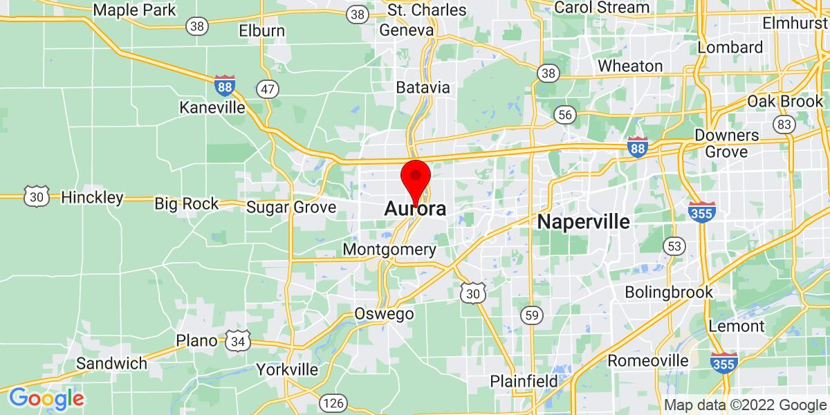 Google Map of Aurora, IL