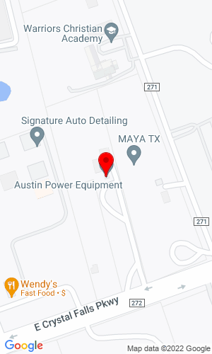 Google Map of Austin Power Equipment 10749 E Crystal Falls Pkwy, Leander, TX, 75234