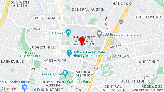 Google Map of Austin, TX 78712