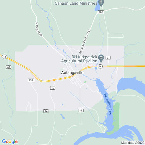 Map of Autaugaville, AL
