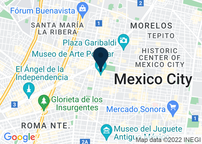 Map of Av Juarez 70 Colonia Centro, Mexico City  D.F. 06010, United States