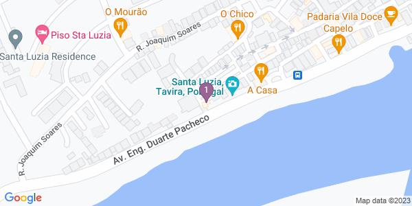 Google Map of Av. Eng. Duarte Pacheco 98a 8800-537 Santa Luzia