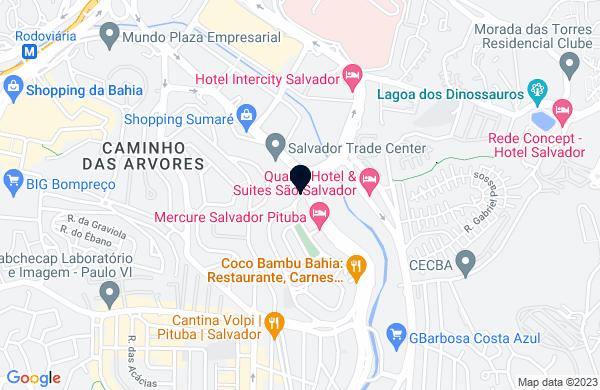 Google Map of Av. Professor Magalhães Neto, 1.752, 16º Andar Pituba