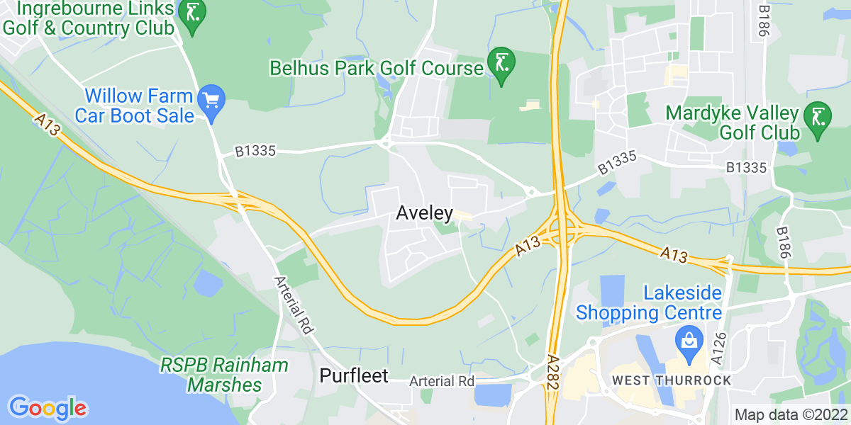 Map:  HGV2 Temp to Perm job in Aveley