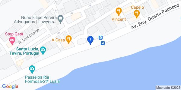 Google Map of Avenida Engenheiro Duarte Pacheco Nº24 8800-537 Tavira