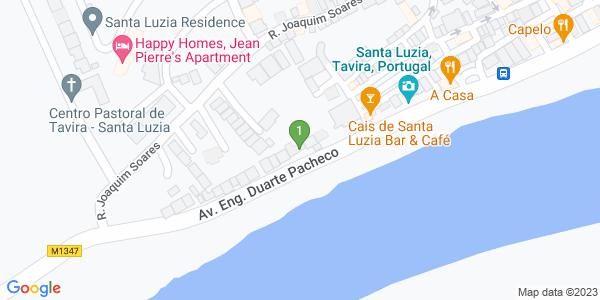 Google Map of Avenida engenheiro Duarte Pacheco,n°108A Santa Luzia 8800-537 Santa Luzia