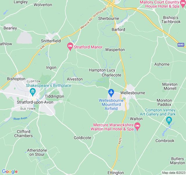 Website Designer Avon Google map of location