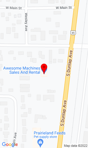 Google Map of Awesome Machines 109 South Dunlap Route 45, Savoy, IL, 61874,