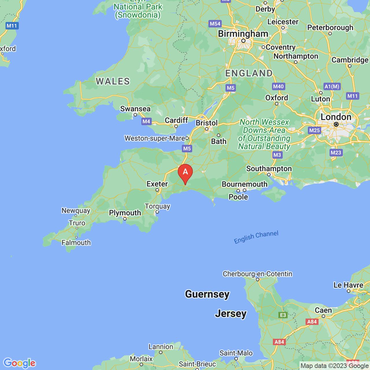 Axminster, England Map