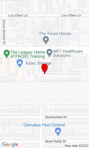 Google Map of Aztec Rental Center 2001 West 34Th St, Houston, TX, 77018