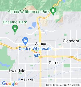 Azusa CA Map