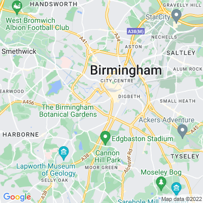 Peace Gardens, Birmingham Location