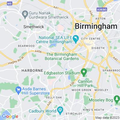 Birmingham Botanical Gardens & Glasshouses Location