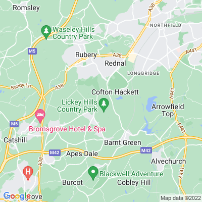 Lickey Hills Country Park Location