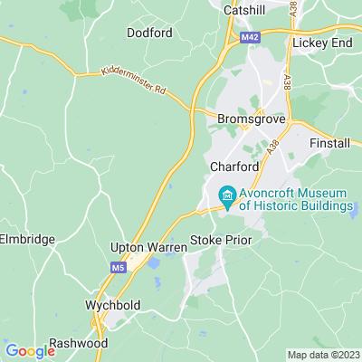 Grafton Manor, Dodford Location
