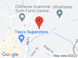 Location of 13 Brook Street  Clitheroe BB7 1NR